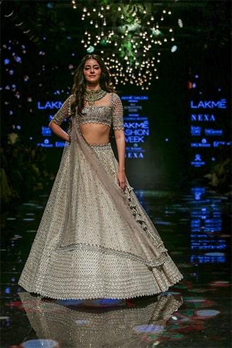 Ananya Pandey at Lakme Fashion Week Winter Festive 2019