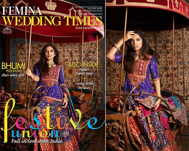 Bhumi Phednekar on Femina Wedding Times August 2019