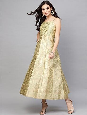 Brocade Maxi Dress