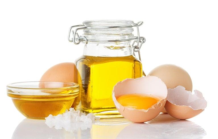 Egg Whites and Olive Oil Pack