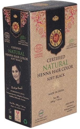 Herbal Me Soft Black Soft Black Henna Color de cabello