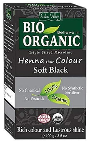 Indus Valley Bio Organic Henna Hair Colour Soft Black