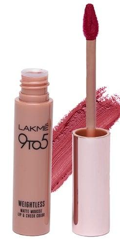 Lakmé 9 to 5 Weightless Matte Mousse Lip Cheek Color