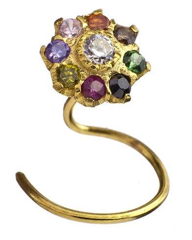 Navaratna Nose Ring