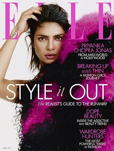Priyanka Chopra on Elle UK August 2019