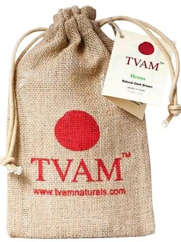 TVAM Henna Color de cabello Natural Negro