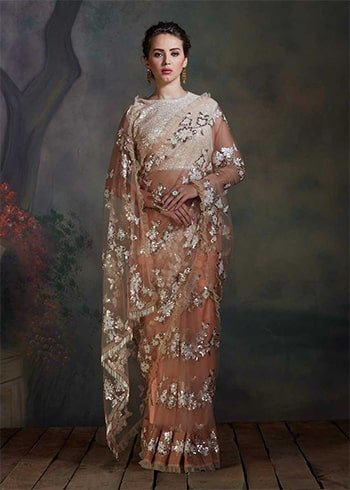 Champagne Golden Saree