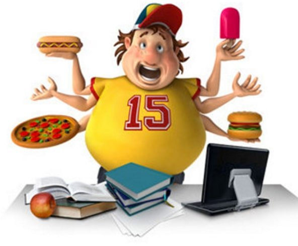 College stress gain extra weight