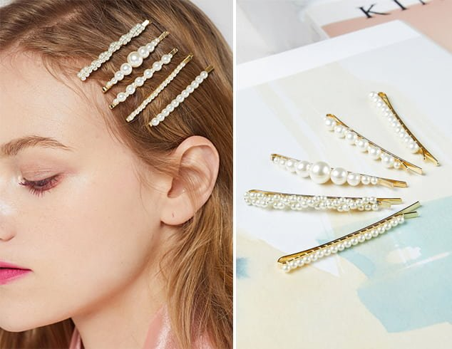 Decorated Pearl Bobby Pins
