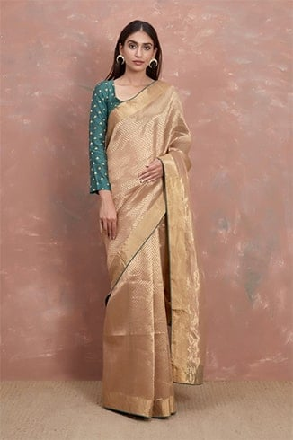 Handwoven Gold Saree