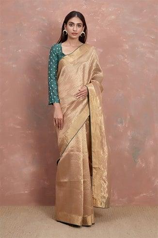 Handwoven Gold Saree