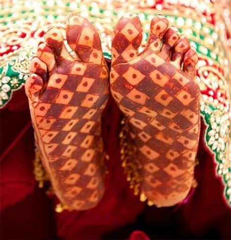 Henna on Bottom of the Foot