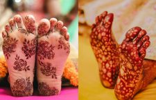 Mehndi Designs On The Sole Of Foot