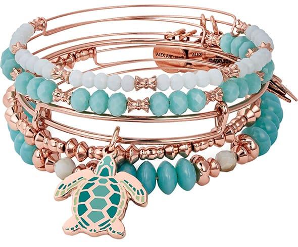 Charm Bangle Bracelet Set