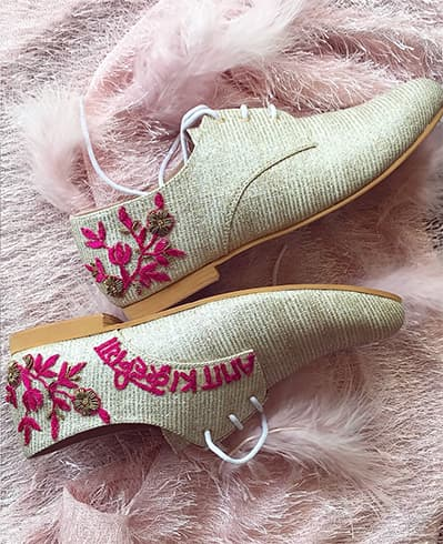 Embroidered Platforms