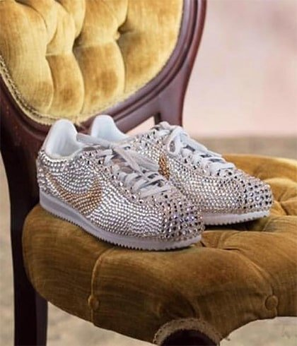 Fancy Rhinestone Sneakers