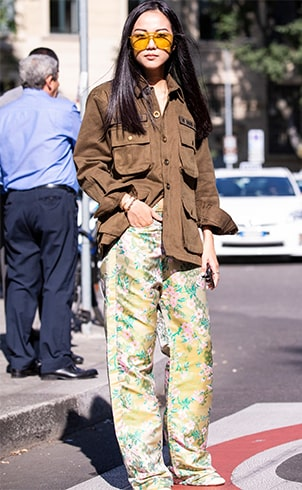 Floral Relaxed Trousers