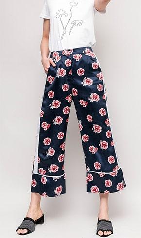 Floral Wide-Leg Pajama