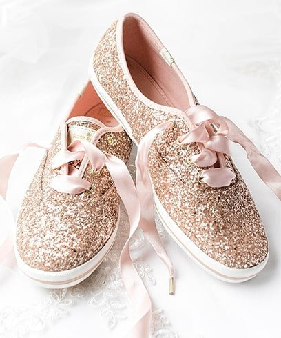 Glitter Wedding Sneakers
