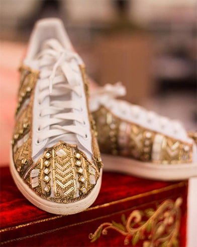 Gold Studded Sneakers