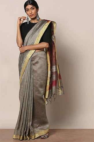 How to Style Linen Saree
