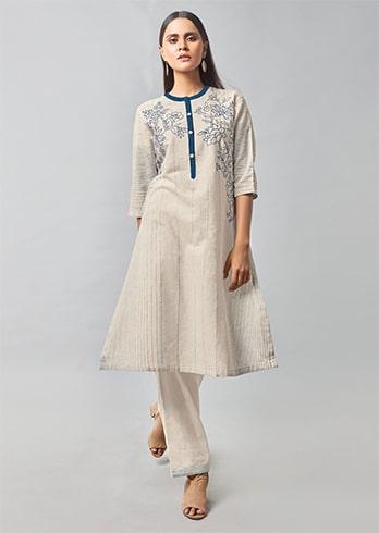 Khadi Cotton Kurta with Straight cut Pants