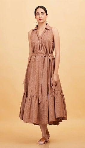 Khadi Sleeveless Dress