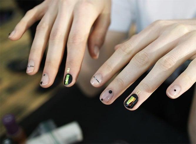 Korean Shadow Nails Cuticle Art Trend