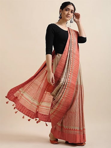 Linen Saree For Office