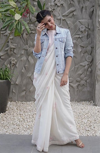 Linen Saree For Party