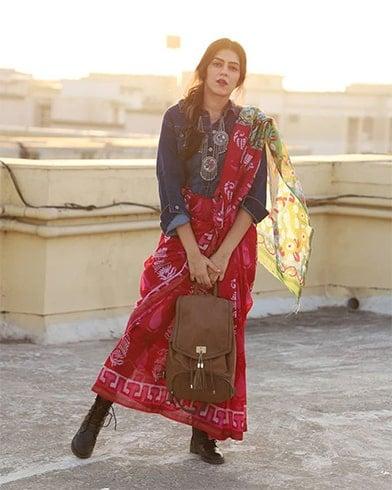 Linen Saree With Jacket