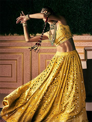 Mirror work lehenga collection
