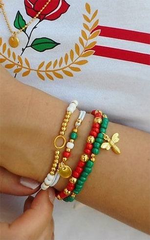 Multi-Colored Bracelet Set