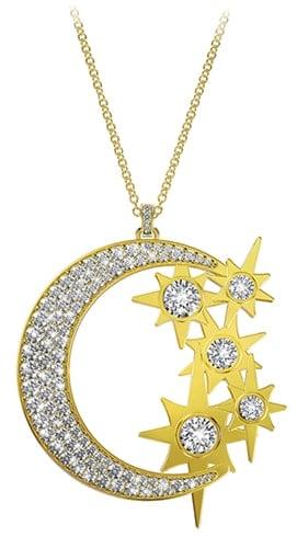 ulti Stone Moon and Stars Pendant