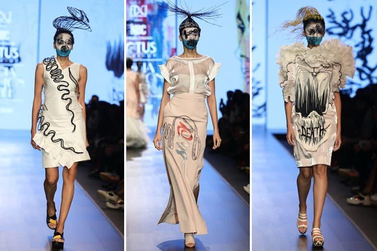 Nitin Bal Chauhan Lotus Makeup India Fashion Week Spring Summer 2020