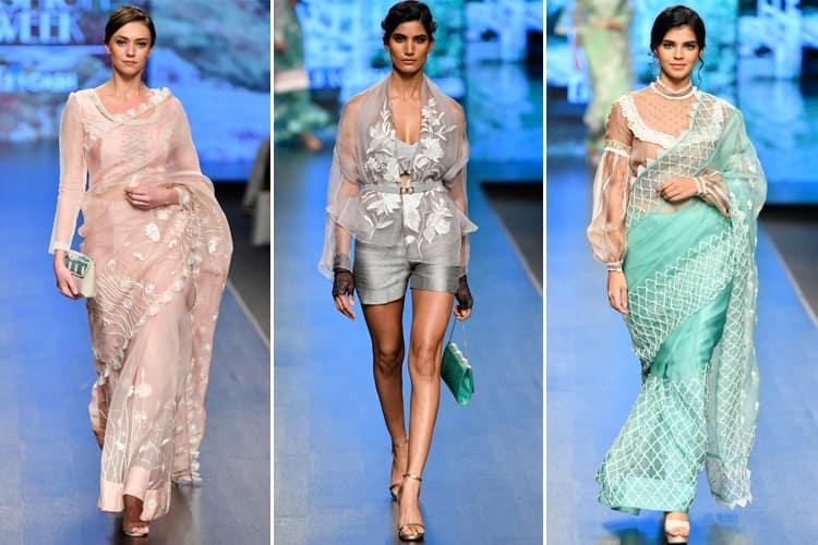 Parul and Ashie Lotus Makeup India Fashion Week Spring Summer 2020