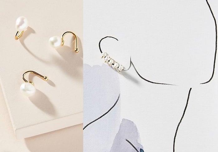 Pearl Earring Cuff Set