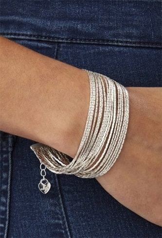 Silver Plated Multi-row Bracelet