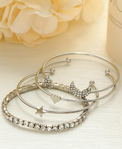 Star Moon Bracelet Set