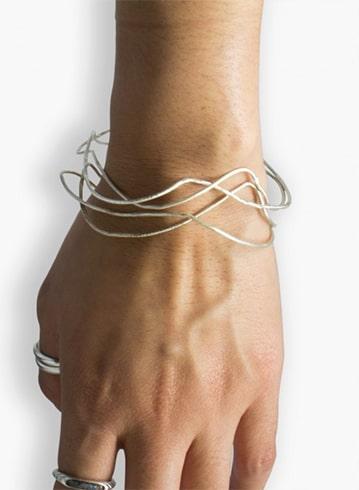 Sterling Silver Bracelet Set