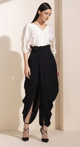Black Paperback Dhoti Pants