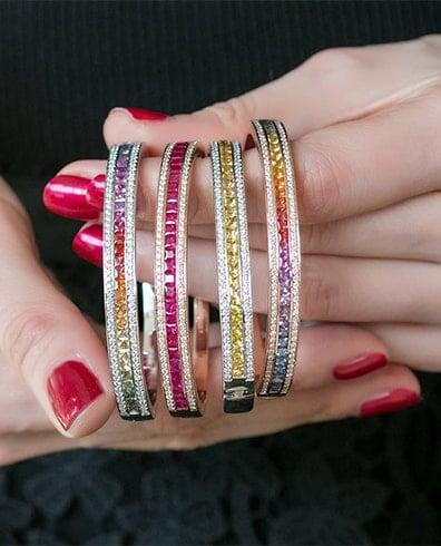 Multi-Colored Bangles