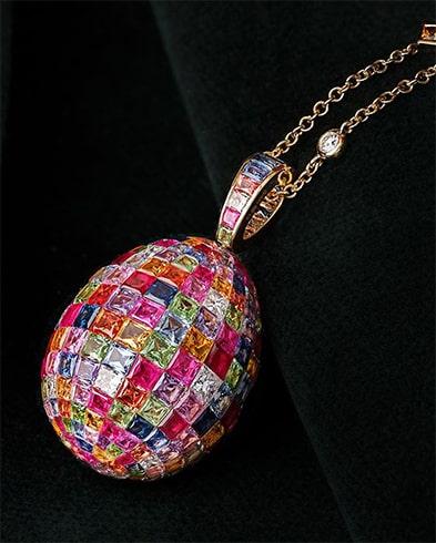Multi-stone Time-Piece Necklace