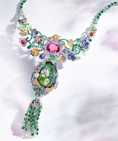 Multi-stoned Single Statement Necklace
