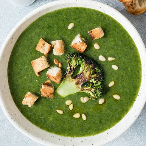 White Bean Parmesan Spinach Soup