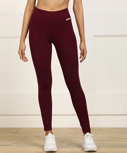 Adidas High Waist Maroon Tights