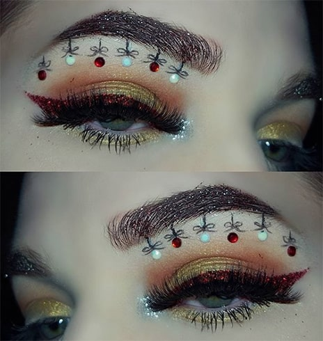 Christmas Makeup for Eyebrows