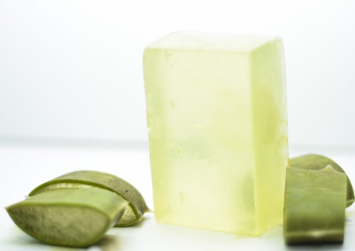 DIY Aloe Vera Soap with Olive Oil
