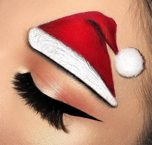 Eyebrows Makeup for Christmas