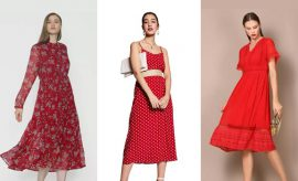 red dresses for winter season